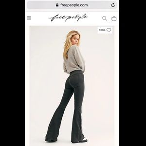 Penny Pull-On Flare Pants FREE PEOPLE JEANS